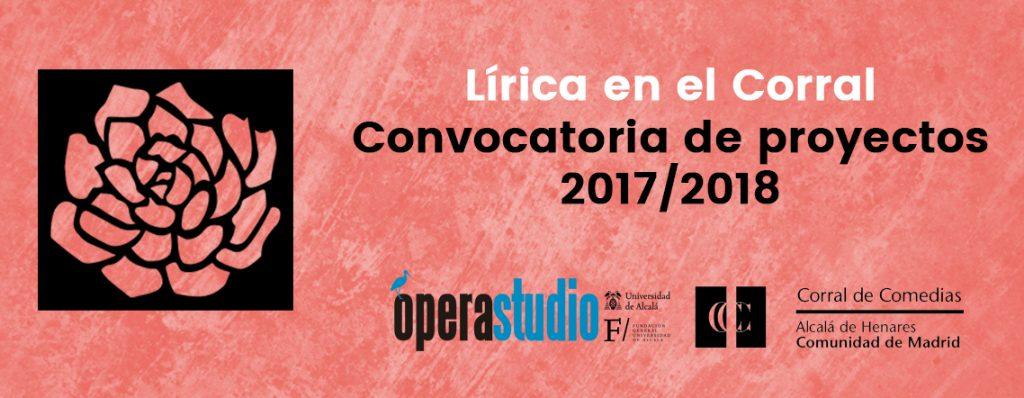 Participa en Lírica en el Corral 2017/2018