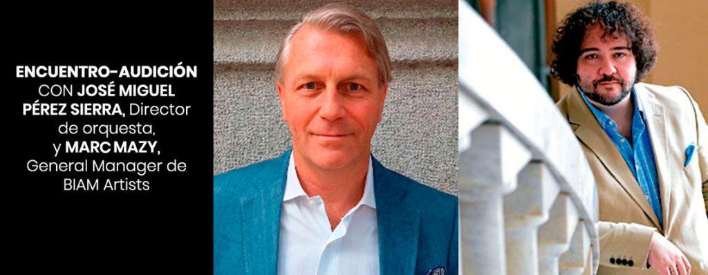 Encuentro-audición con José Miguel Pérez-Sierra y Marc Mazy