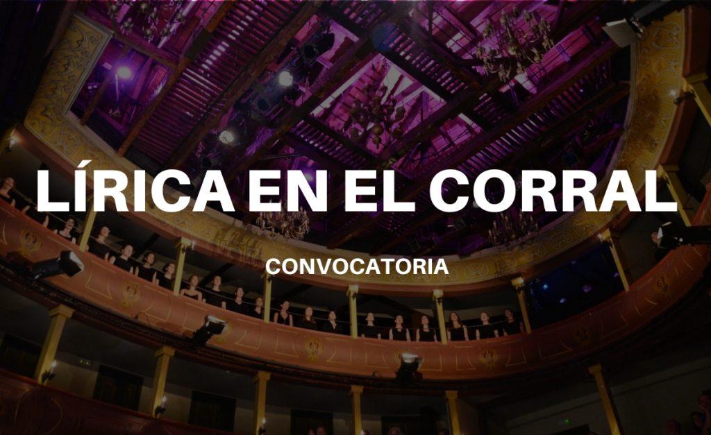 Participa en Lírica en el Corral 2020/2021