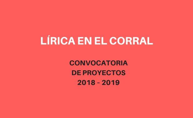 Participa en Lírica en el Corral 2018/2019